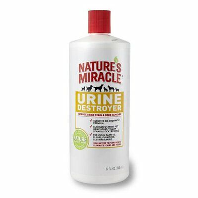 Natures Miracle Urine Destroyer Residue Eliminator Strong Pet Urine Stains 32 oz
