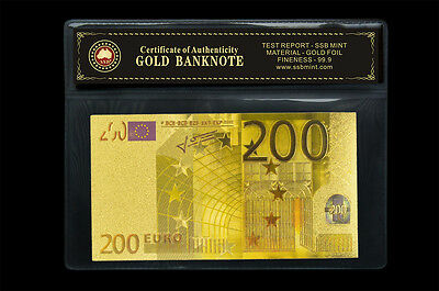 New Euro Coa Note Set 24Kt Gold Limited Edition Coloured  Polymer Bank Note Set