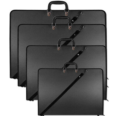 Design Portfolio Water Proof Black Case Art Work Painting Folder Bag A2 A3 & A4