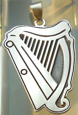 Guinness  Pendant  Necklace Amulet Jewelry 925 sterling silver (p420)