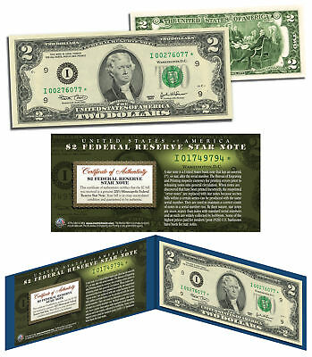 2003 $2 Minneapolis I* BEP Uncirculated Currency Rare Star Note w/Folio & COA