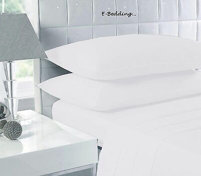 100%EGYPTIAN COTTON 500 THREAD COUNT DUVET COVER SET OR FITTED SHEET White&Cream
