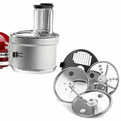 Stand Mixer Silver Food Processor Attachment with Commercial Style Dicing Kit