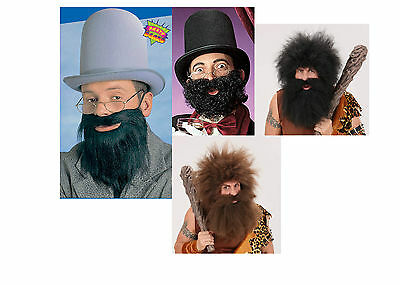 Black Ginger Grey Fancy Dress Beard Fake Beard Caveman Pirate Lincoln Arab Beard