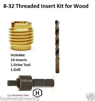 E-Z Lok 8-32 Threaded Insert Installation Kit for Wood E-Z Lok P/N EZ-400-008
