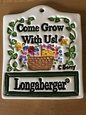 """Longaberger Homestead """"Come Grow with Us!"""" Garden Sign / Tie-On - Carol Berry"""