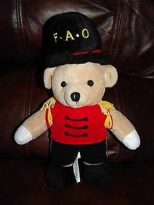 FAO Schwarz Fifth Avenue Toy Soldier Bear Plush Doll 13""