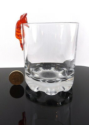 Red Mouse Funny Glass Ornament Bar Shot Wine Glass Flute  Decoration Display New