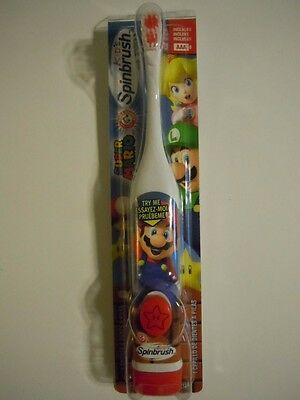 Arm & Hammer Super Mario Brothers Kid's Battery Powered Spinbrush Toothbrush