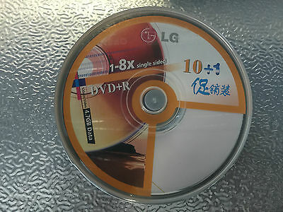 DVD+R 1-8X Single Sided 10 Pcs 120MIN Video 4.7GB Data