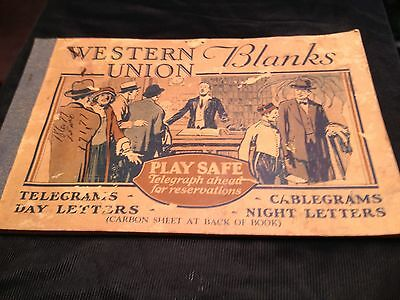 Western Union Blanks Book For Telegrams Day Night Letters Cablegrams