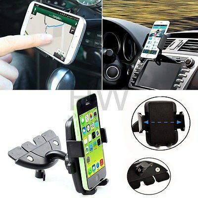 For Mobile Smart Cell Phone GPS 360°Car Auto CD Slot Mount Cradle Holder Stand