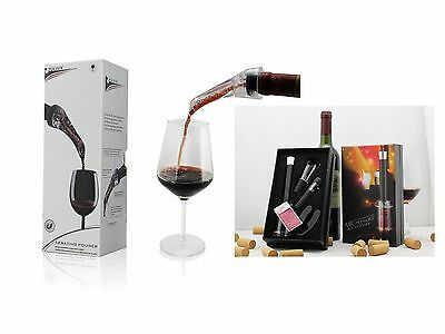 Wine Aerator & Pourer + Wine Opener Pump Set Bundle – Model AUS101