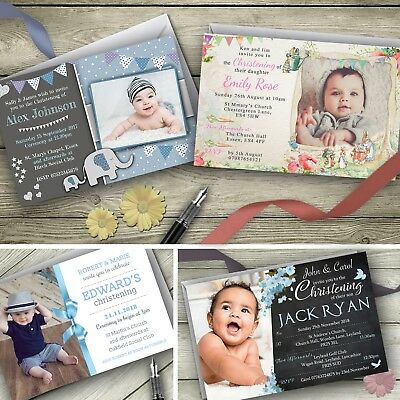Christening Invitations Personalised Party Free Delivery Free Envelopes Animal