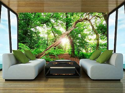 Fantasy on Forest Wall Mural Photo Wallpaper GIANT DECOR Paper Poster Free Paste