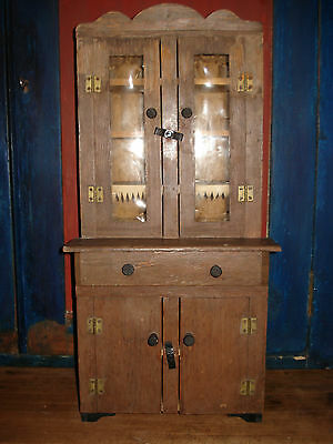 Antique Vintage Childs DOLL STEPBACK CUPBOARD~original~20 in tall~9 inches wide