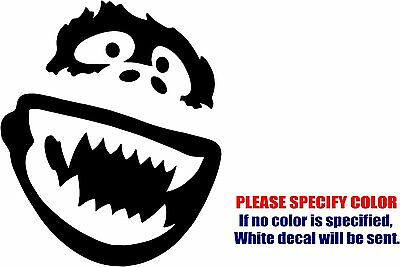 Vinyl Decal Sticker - Abominable Snowman Yeti Car Truck Bumper Wall JDM Fun 6""