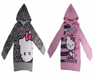 Hello Kitty Hoodie Sweater Jumper Top Age 2-8Y Bnwt Girls Sanrio Free P&p