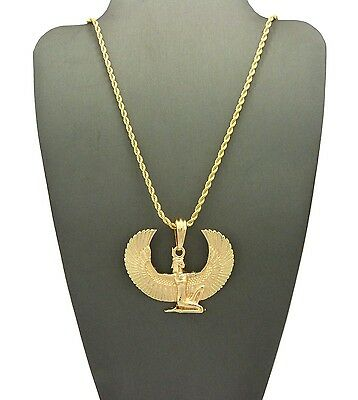 """New Egyptian Goddess Maat Pendant &24"""" Chain Necklace (Various Chains) - Xsp475"""