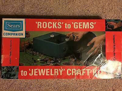 Vintage Sears Companion Rocks to Gems to Jewelry Craft Kit Rock Tumbling Kit
