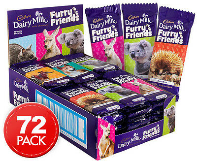 72 x Cadbury Furry Friends 15g