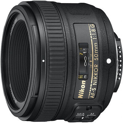 Nikon 50mm f/1.8G AF-S DX NIKKOR Lens for Nikon Digital SLR Cameras