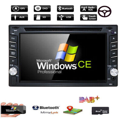 "NEW Bluetooth GPS Car Stereo DVD Player With 6.2"" Double 2Din Radio iPod RDS+Map"
