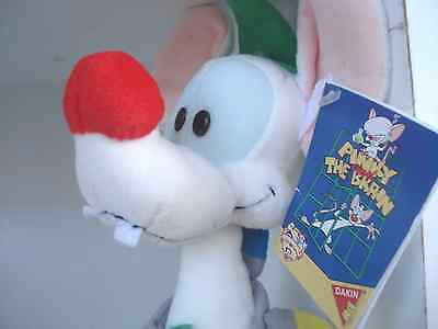 1995 Warner Bros. Pinky & the Brain Animaniacs PINKY ELF Dakin Plush UWT