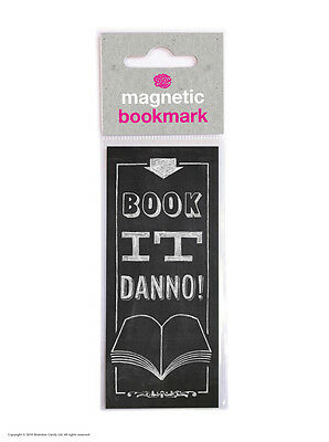 Brainbox Candy Book It Danno! magnetic bookmark cheap gift funny present novelty
