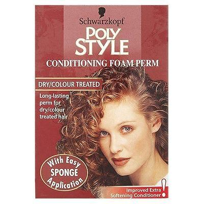 Schwarzkopf Poly Style Conditioning Foam Perm For Dry/Colour Treated Hair
