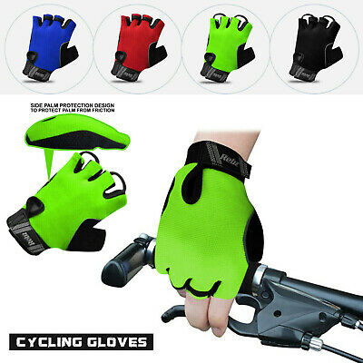 Cycling Gloves Gel Protection Half Finger Bike Breathable Fingerless Bicycle