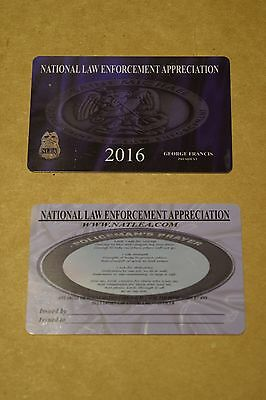 2016 NATIONAL LAW ENFORCEMENT CARD SHOW COURTESY SUPPORT POLICE PBA PD FOP SBA