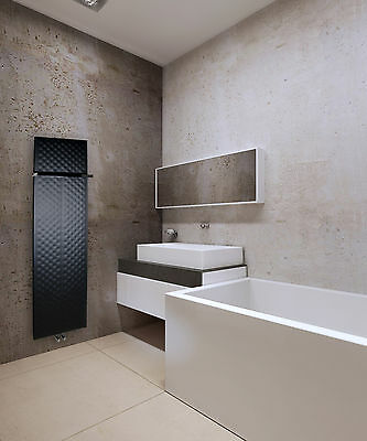 450mm wide 1600mm high Black Designer Heated Towel Rail Radiator Modern Bathroom