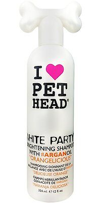 Pet Head White Party Cat and Dog Brightening Shampoo Orangelicious 12 oz
