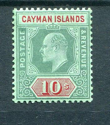 Cayman Islands 1907-09 10s green and red on green SG34 MVLH (possibly MNH?)