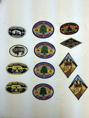 Lot of Vintage St. Louis Area Council Camporee and District Patches - VS20-36