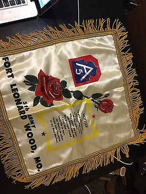 vintage US 5th Army mother pillow cover ft leonard wood - DAL19-9