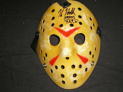 KANE HODDER Signed Hockey Mask Jason Voorhees Friday the 13th 7,8,9,X Autograph