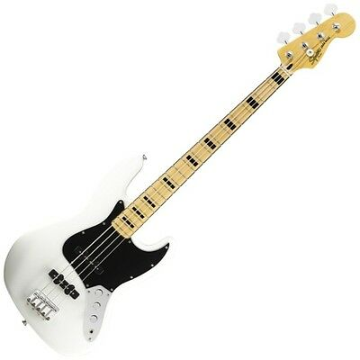 Fender Squier Vintage Modified 70's Jazz Bass Maple Fretboard Olympic White DEMO