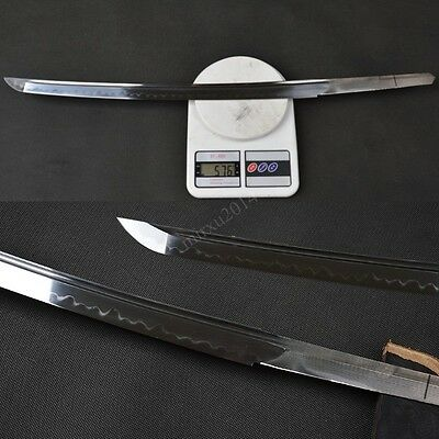 naked blade 1095 high carbon steel CLAY TEMPERED for Japanese wakizashi swords
