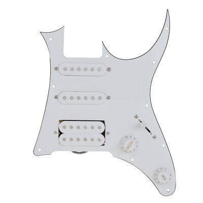 Electric Guitar Loaded Pickguard SSH for Ibanez 7V Replacement White
