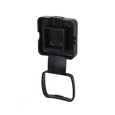 DREAM-ENG. Black Rubber Tube Cover with 4-Flat Holder, Mount Hitch Cover
