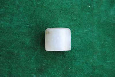 Antique Rare Chinese Natural Nephrite Jade ARCHER ring Qing dynasty Hetian