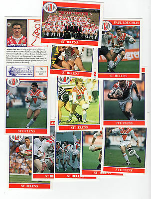 Merlin Rugby League Collection 1991 Team Set of St Saint Helens Cards freepost