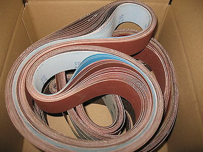"43 pc. lot- 2 x 72"" Knife Grinding Sanding Belt Assortment. Made in USA"