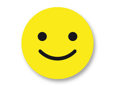 Pin Button Badge Ø38mm Smiley Face Jaune Yellow Smile Sourire Emoticon