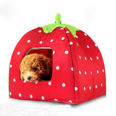Soft Chiot Chaton Animaux Peluche Igloo Niche Maison Bed pour Chien Chat