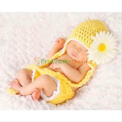 Newborn infant Baby Kids Crochet Knit Costume Photo Photography Prop Outfits