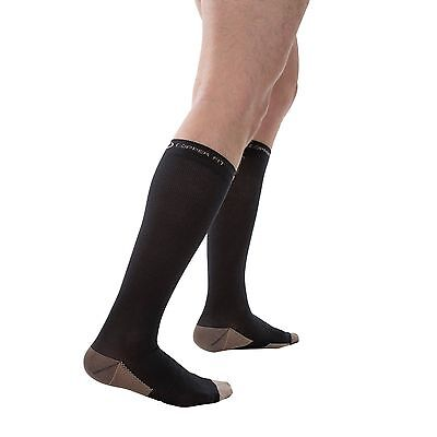 Copper Fit Infused Anti-Fatigue Compression Socks Varicose Travel Anti-odor L/XL