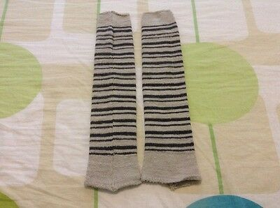 "NWOT KD Dance Women's Arm Warmer Tan and Dark striped 15"" Size M"